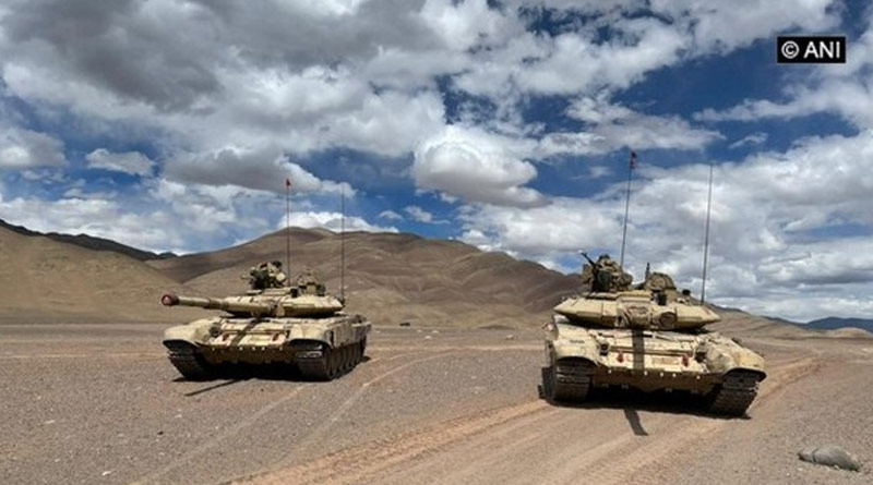 Indian Army tank regiments prepared for operations in high altitude areas of Eastern Ladakh   Sangbad Pratidin