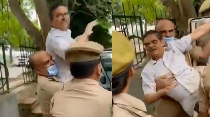 Ex-IPS officer Amitabh Thakur arrested in Uttar Pradesh। Sangbad Pratidin