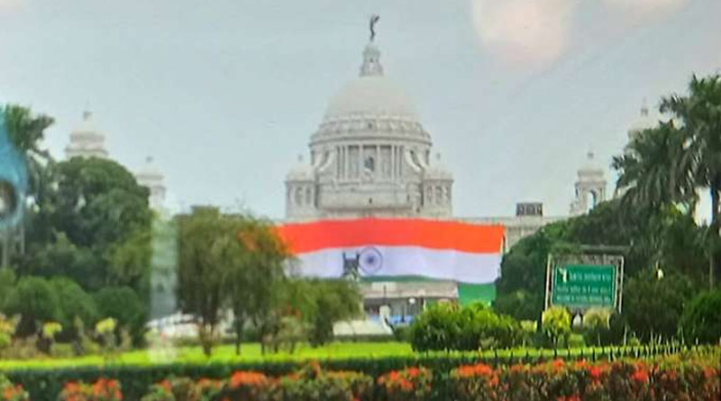 Independence Day: 7500 sq ft national flag to drape Victoria Memorial in Kolkata on 75th year | Sangbad Pratidin