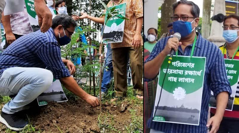 Paschim Banga Vigyan Mancha organised a tree planting programme in Maidan | Sangbad Pratidin