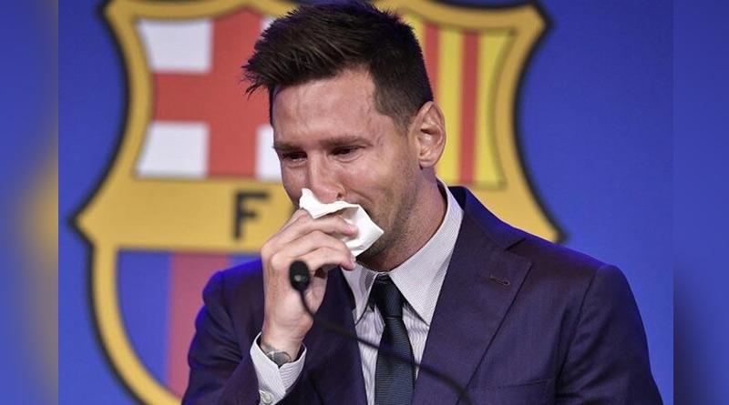 Tearful Argentine star Lionel Messi Confirms Barcelona Exit | Sangbad Pratidin