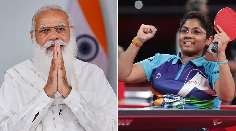 PM Modi spoke to Bhavina Patel, congratulated her on winning Paralympics Silver medal   Sangbad Pratidin