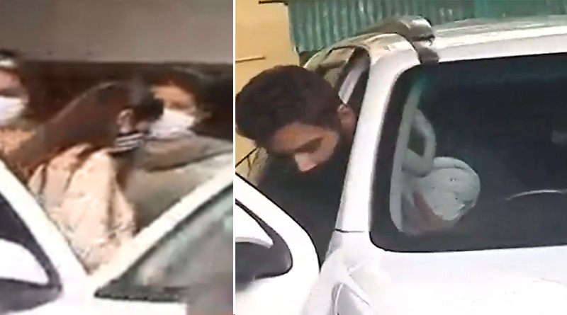 Actor Yash Dasgupta takes Nusrat Jahan and her newborn baby home | Sangbad Pratidin