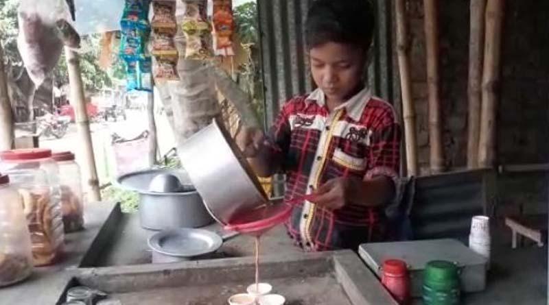 Parent left boy who starts tea stall to earn money in Purbasthali | Sangbad Pratidin