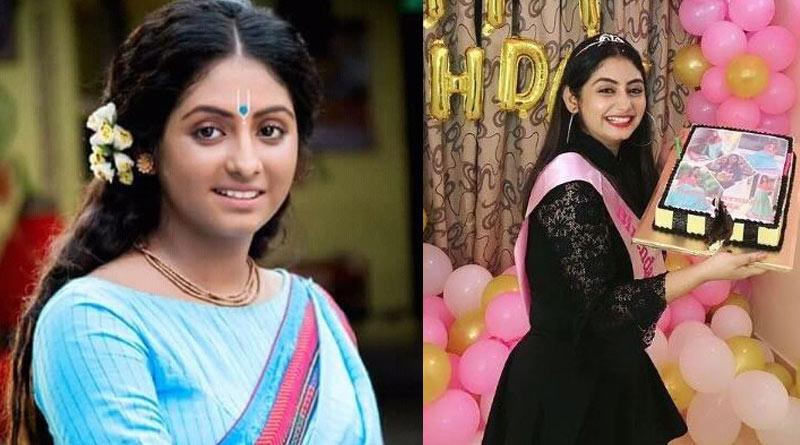 Bengali Actress Tiyasha Roy aka shayma from Krishnakoli's birthday celebration | Sangbad Pratidin