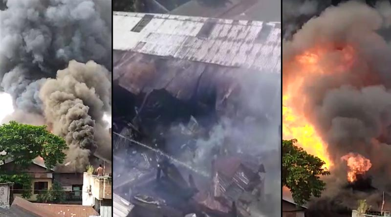 Massive fire breaks out at wooden factory in Kolkata, 5 fire tenders are working to control | Sangbad Pratidin