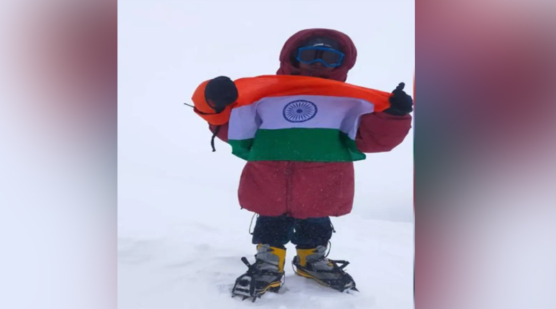 8-Year-Old Andhra Boy Becomes The Youngest to Scale Mount Elbrus, Proudly Unfurls Tricolour | Sangbad Pratidin