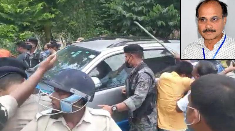 Congress leader Adhir Ranjan Chowdhury faces agitation in Murshidabad | Sangbad Pratidin