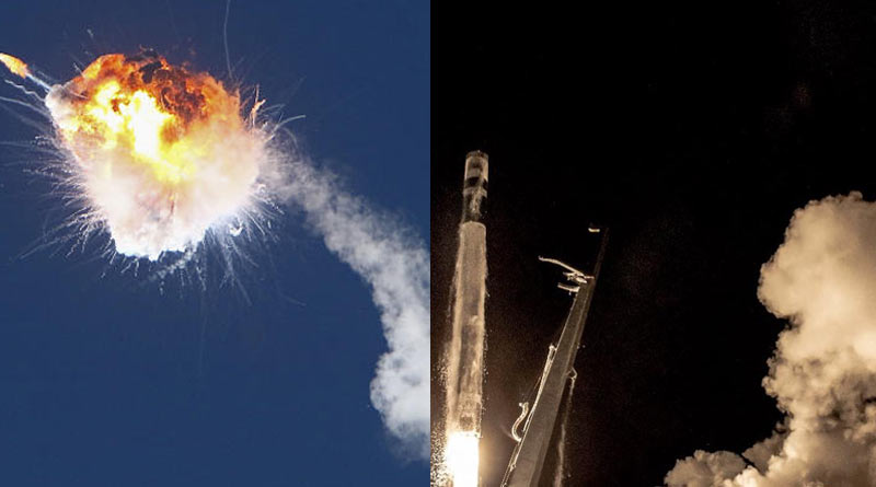 California based company made 'Alpha' rocket blasts off in fiery explosion over Pacific Ocean | Sangbad Pratidin
