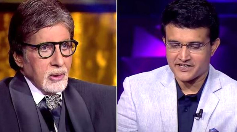 Amitabh Bachchan grilled by 'host' Sourav Ganguly in KBC 13 special episode | Sangbad Pratidin