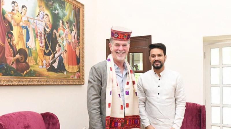 Anurag Thakur Meets Netflix CEO Reed Hastings, Gifts Him Bhagavad Gita | Sangbad Pratidin