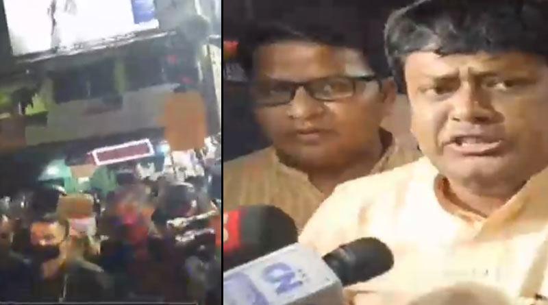 Clash between BJP leaders and Police near Mamata Banerjee's house at Kalighat | Sangbad Pratidin