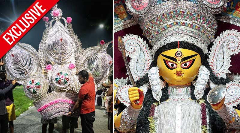 Durga Puja 2021: Bagbazar Sarbojanin Durga idol gets makeover | Sangbad Pratidin