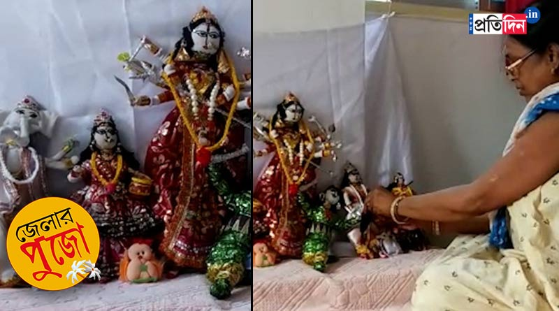 Durga Puja 2021: Balurghat family makes unique Durga idol | Sangbad Pratidin