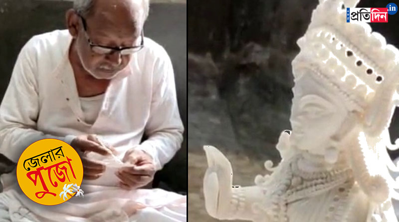 Durga Puja 2021: Old shola artist makes Durga idol despite low demand of the work amidst corona crisis | Sangbad Pratidin