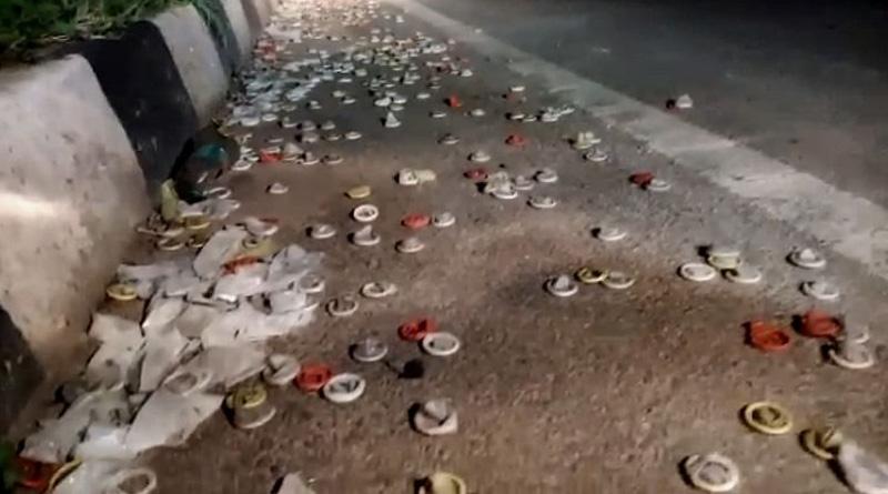 Karnataka: Condoms lie all over national Highway in Tumakur