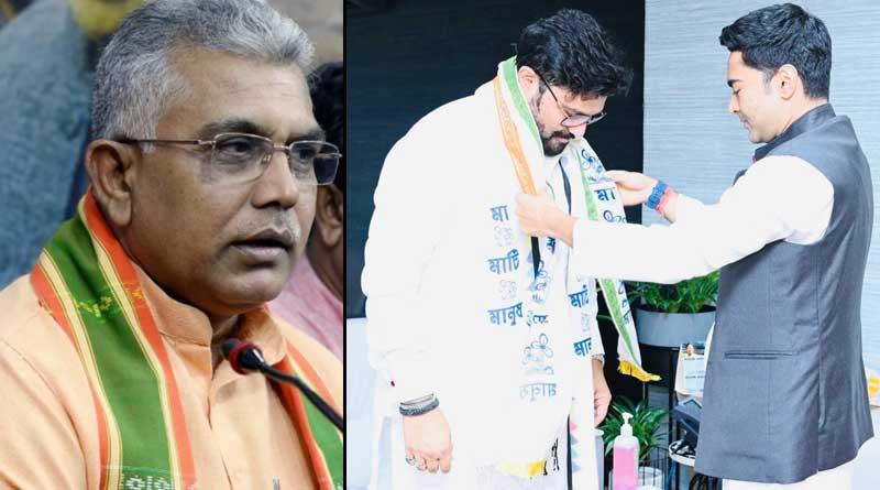 BJP state president Dilip Ghosh slams Babul Supriyo for joining TMC । Sangbad Pratidin