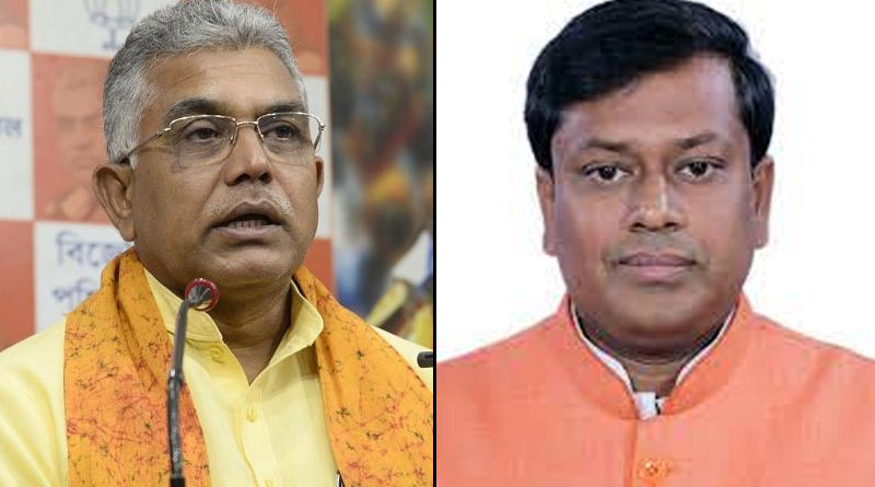BJP leaders Dilip Ghosh and Sukanta Majumdar visits BSF camp at Cooch Behar sparks controversy | Sangbad Pratidin