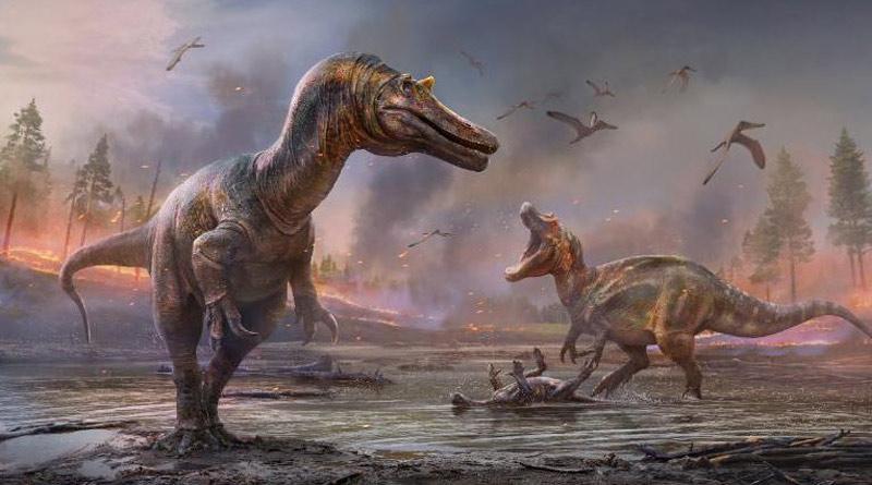 Horned crocodile-faced dinosaur fossiles found in UK। Sangbad Pratidin