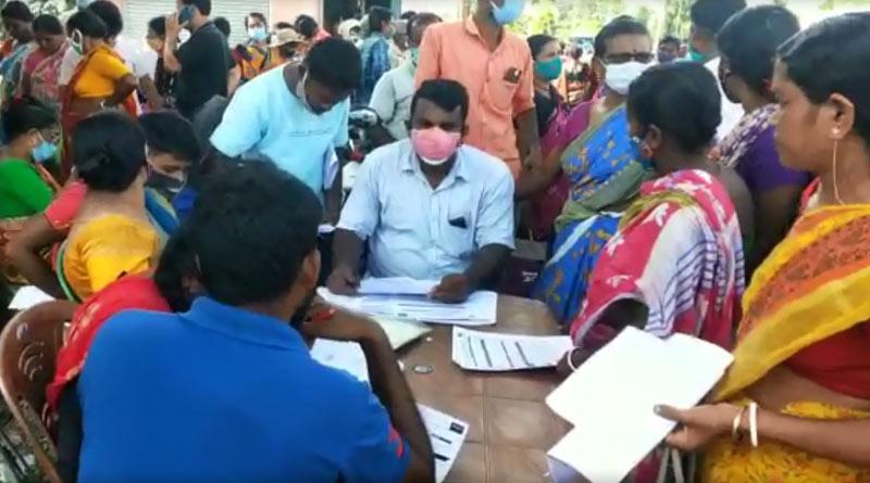 BJP leaders filling up froms in Duare Sarkar at Bangaon | Sangbad Pratidin