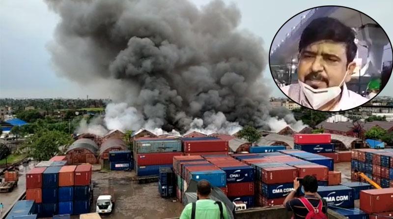 Gardenreach Fire: Minister Sujit Bose slams godown administration over fire extinguisher | Sangbad Pratidin