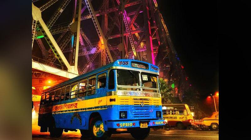 Bus Accident on Howrah Bridge left injured many | Sangbad Pratidin