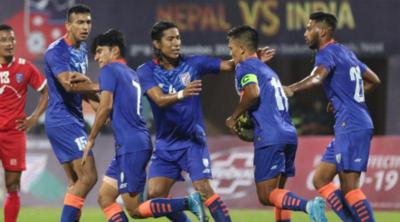 India vs Nepal Friendly Football match ended in a Draw in Dasrath Stadium | Sangbad Pratidin