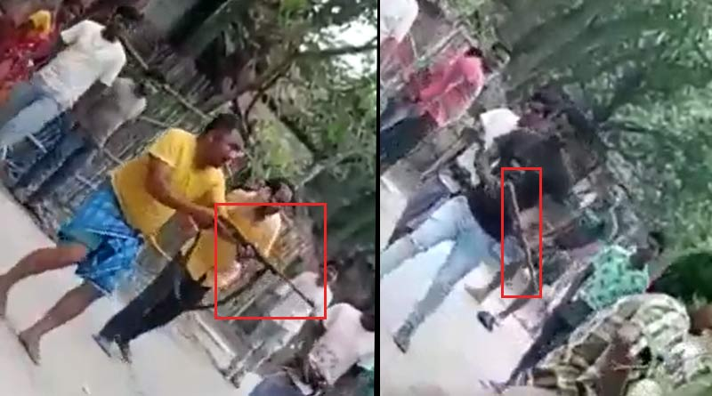 Clashes at Islampur, North Dinajpur, goons seen with arms on the road, video goes viral   Sangbad Pratidin