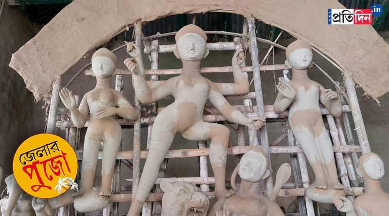 Durga Puja 2021: Four-armed Durga worshipped in Chowdhury family of Kulti, West Bengal | Sangbad Pratidin