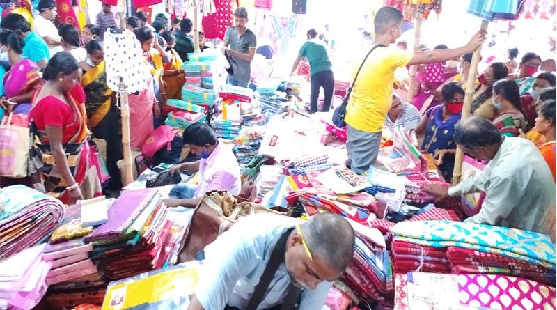 New collection of saree at Kalna's Tant market | Sangbad Pratidin