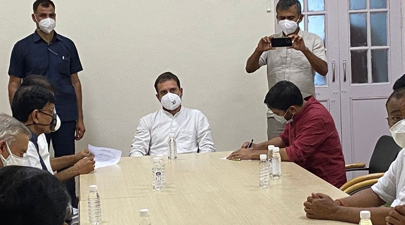 CPI leader Kanhaiya Kumar and Gujarat MLA Jignesh Mewani joins Congress | Sangbad Pratidin