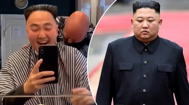 Viral Video: Man wants his hair style like Kim Jong Un, video goes viral | Sangbad Pratidin