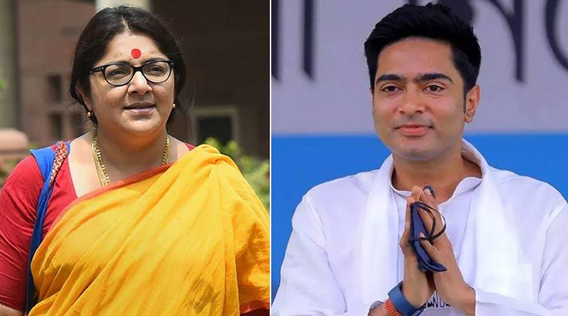 BJP MP Locket Chatterjee slams report of meeting with Abhishek Banerjee | Sangbad Pratidin