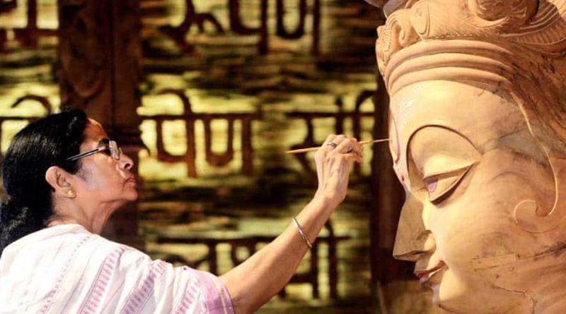 Durga Puja 2021: Nazrul Park Unnayan Samiti's Durga will be inspired by Mamata Banerjee governments social development schemes। Sangbad Pratidin