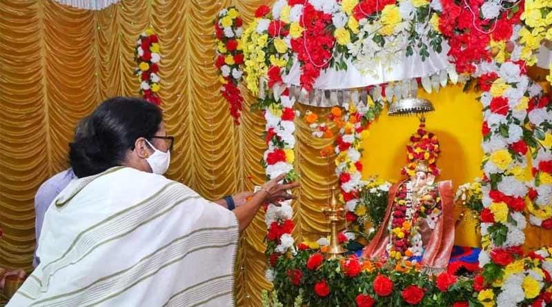 Watch Ganesh Chaturthi 2021 celebration in Bengal | Sangbad Pratidin