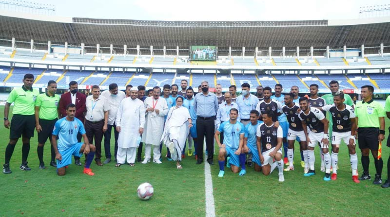 WB CM Mamata Banerjee inaugurated the Durand Cup at YVK | Sangbad Pratidin