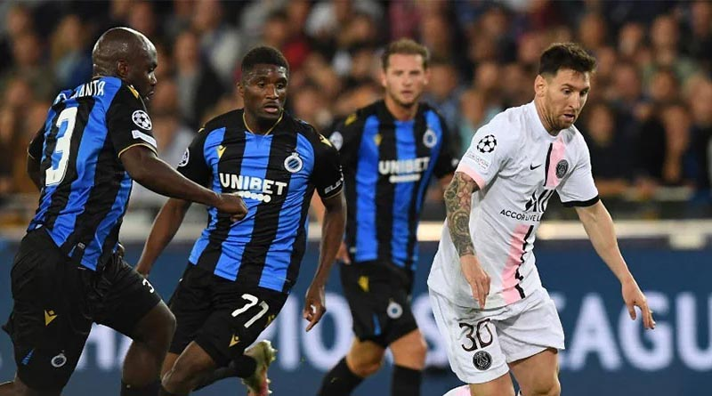 UCL: Paris Saint-Germain settle for a 1-1 draw with Club Brugge as Messi starts | Sangbad Pratidin