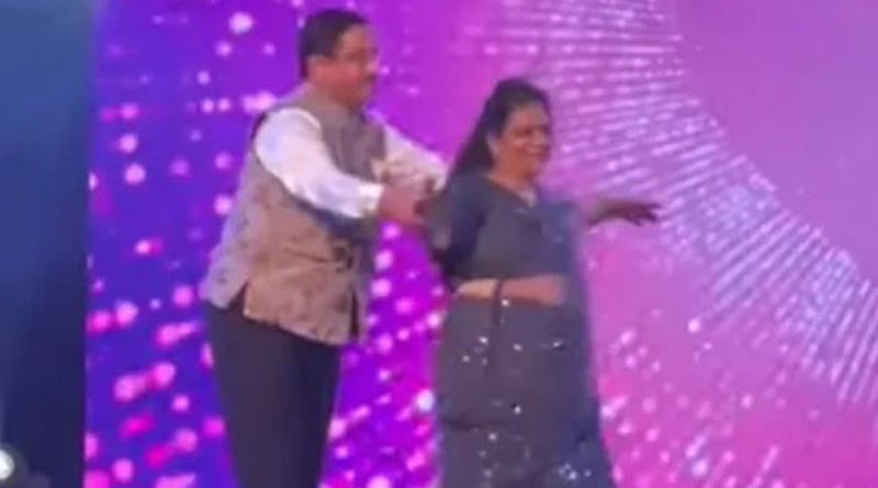 Viral Video: Union Minister Pralhad Joshi dances with his wife at daughter's wedding। Sangbad Pratidin