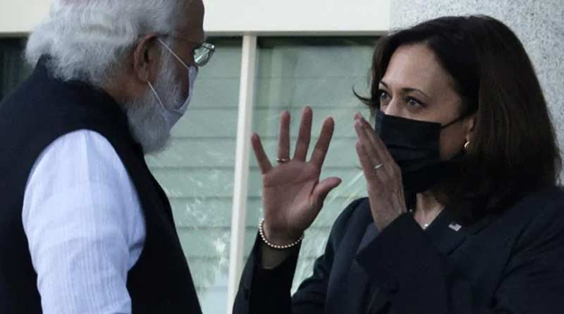 Kamala Harris' barb of democracy against Modi | Sangbad Pratidin