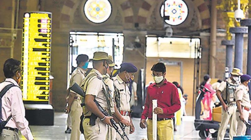 Mumbai on high alert, security beefed up at railway stations। Sangbad Pratidin