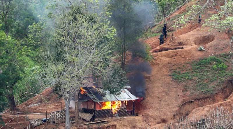 Myanmar's Military Launches Air Strikes Amid Clashes | Sangbad Pratidin