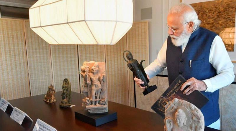 PM Narendra Modi to bring home 157 artefacts handed over by America | Sangbad Pratidin