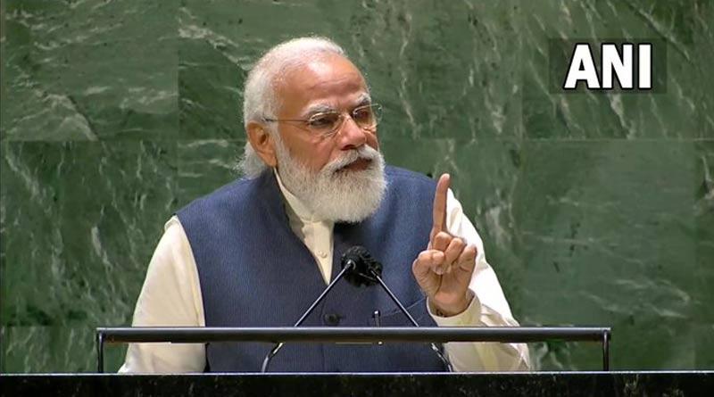 PM Narendra Modi addresses the 76th Session of the United Nations General Assembly | Sangbad Pratidin
