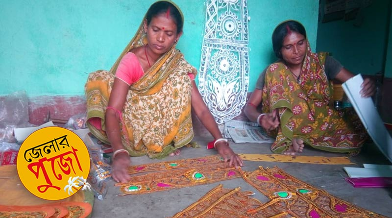 Durga Puja 2021: Ornament artists hit as covid crisis engulfs Puja celebrations in Purulia | Sangbad Pratidin