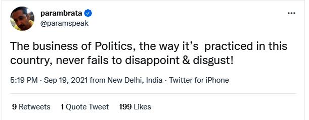 Parambrata Chatterjee tweet