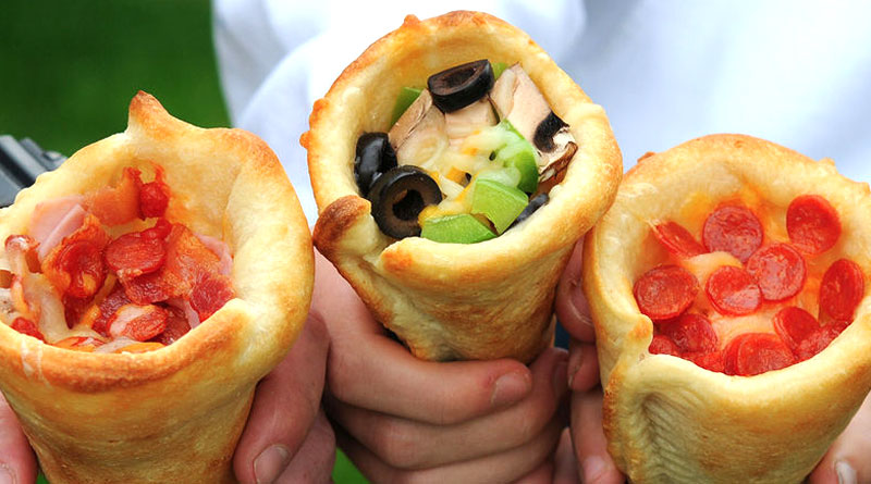 Here are Pizza Cones, a unique treat for you mouth