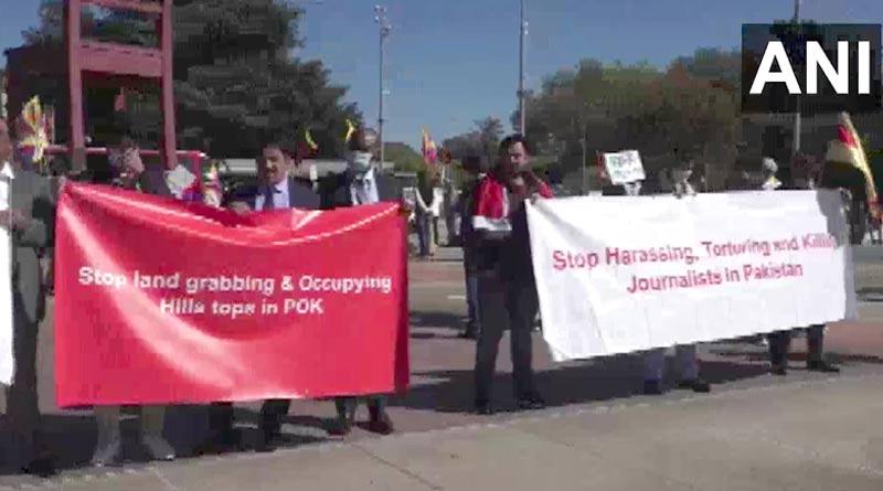 Anti-Pakistan protests held outside Geneva UNHRC office over terror camps in PoK | Sangbad Pratidin
