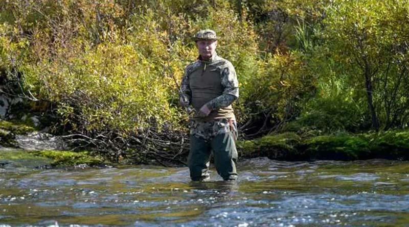 Russian President Vladimir Putin seen with Siberian fishing trip after self-isolation। Sangbad Pratidin