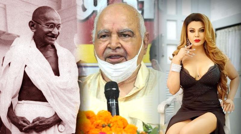 Rakhi Sawant and Mahatma Gandhi remark of UP Speaker sparks row | Sangbad Pratidin