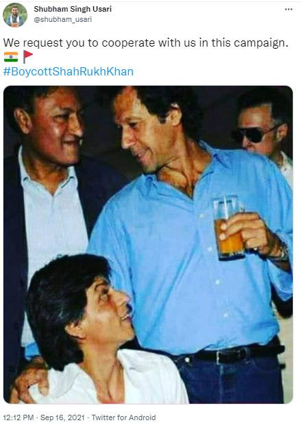 SRK Boycott tweet